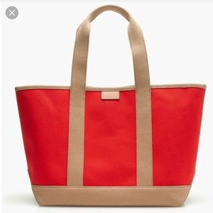 Surfside J. Crew canvas tote NWT